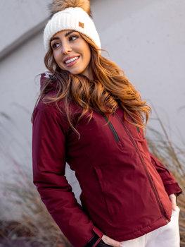 Vínová dámská zimní lyžařská bunda Bolf HH012