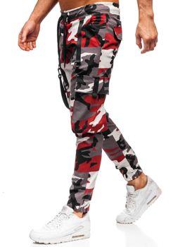 Vínovo-červené pánské jogger kapsáče Bolf 11105