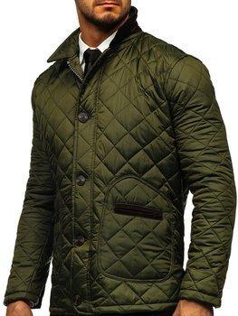Zelená pánská elegantní přechodová husky bunda Bolf 0003