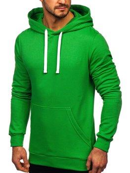 Zelená pánská mikina s kapucí Bolf 02