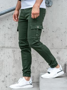 Zelené pánské jogger kalhoty Bolf 2039