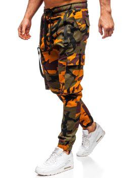 Zeleno-oran?ové pánské jogger kapsá?e Bolf 11105