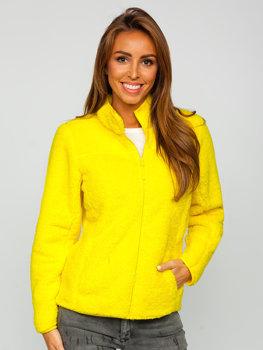 Žlutá dámská fleecová bunda Bolf HH006