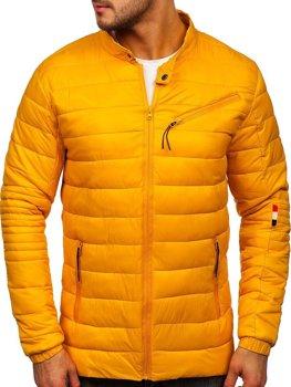 Žlutá pánská přechodová bunda Bolf M13006