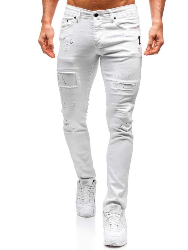Bílé pánské džíny Bolf 4020