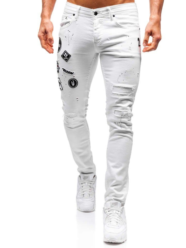 Bílé pánské džíny Bolf 4021