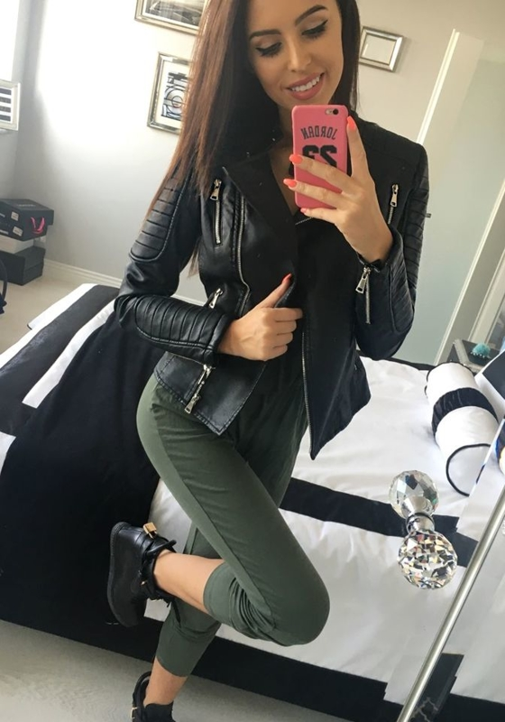Černá dámská kožená bunda z ekokůže Bolf 8820