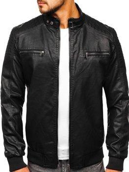 Černá pánská koženková bunda biker Bolf 2001