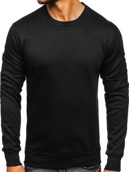 Černá pánská mikina bez kapuce Bolf D001-1