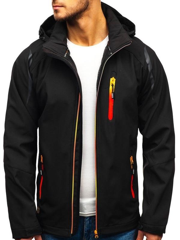 Černá pánská softshellová bunda Bolf ZS202