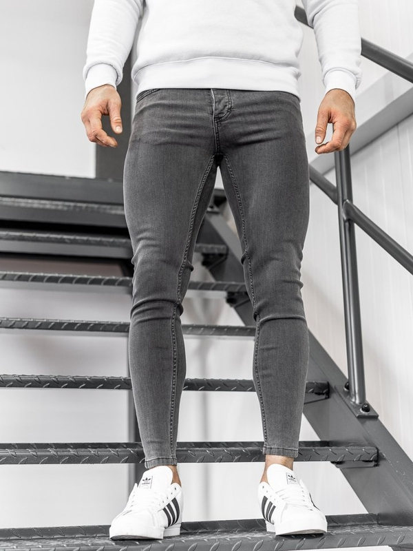 Černé pánské džíny Bolf 1088