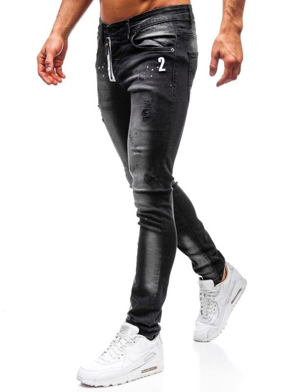 Černé pánské džíny Bolf 9243