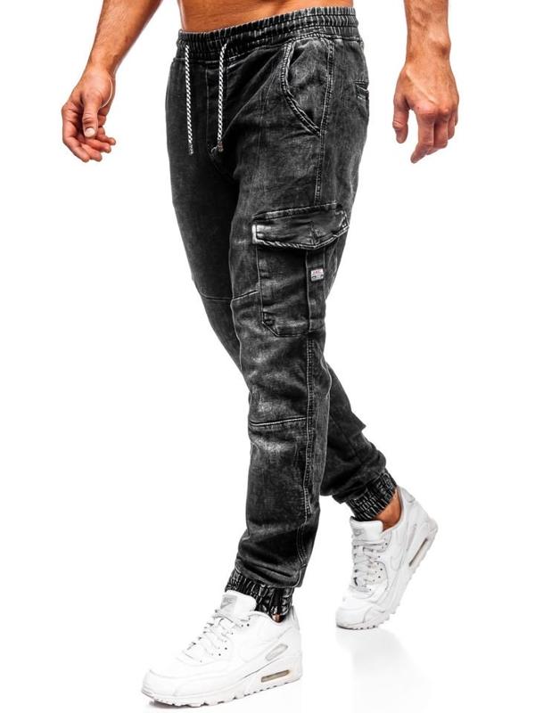 Černé pánské jogger kalhoty Bolf KA686-4