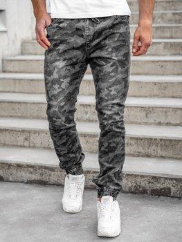 Černé pánské jogger kalhoty Bolf RB9489DT