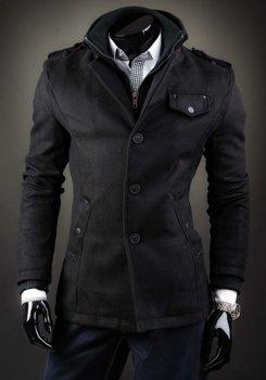 Černý pánský kabát Bolf 8853D