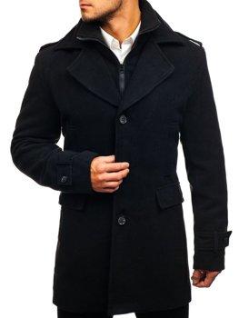 Černý pánský zimní kabát Bolf 1808