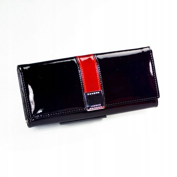 Dámská černá kožená peněženka 1161
