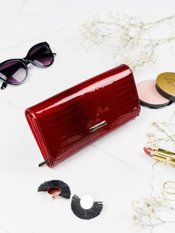 Dámská červená kožená peněženka 2095