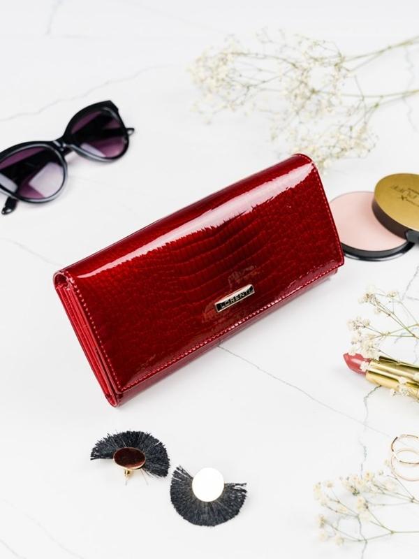 Dámská červená kožená peněženka 2099
