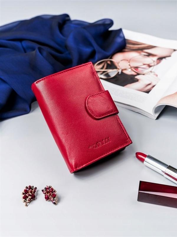 Dámská červená kožená peněženka 2413
