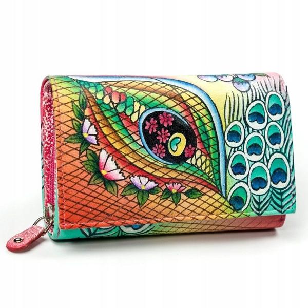 Dámská růžová kožená peněženka 3042