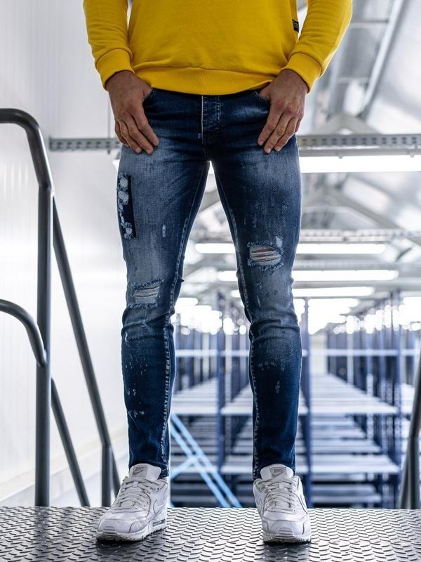 Modré pánské džínny Bolf 1801