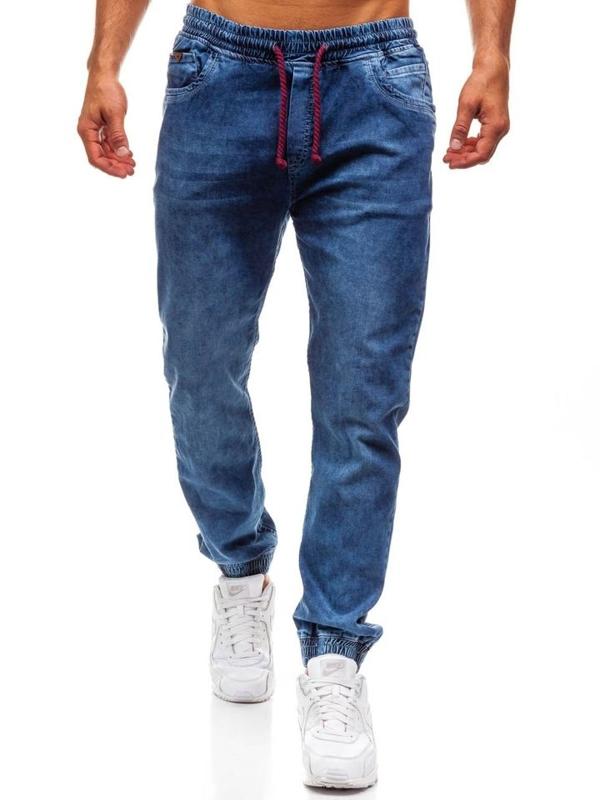 Modré pánské džínové jogger kalhoty Bolf 723