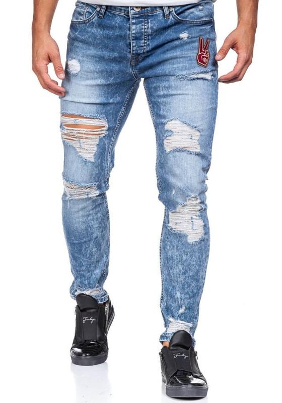 Modré pánské džínové kalhoty Bolf 376