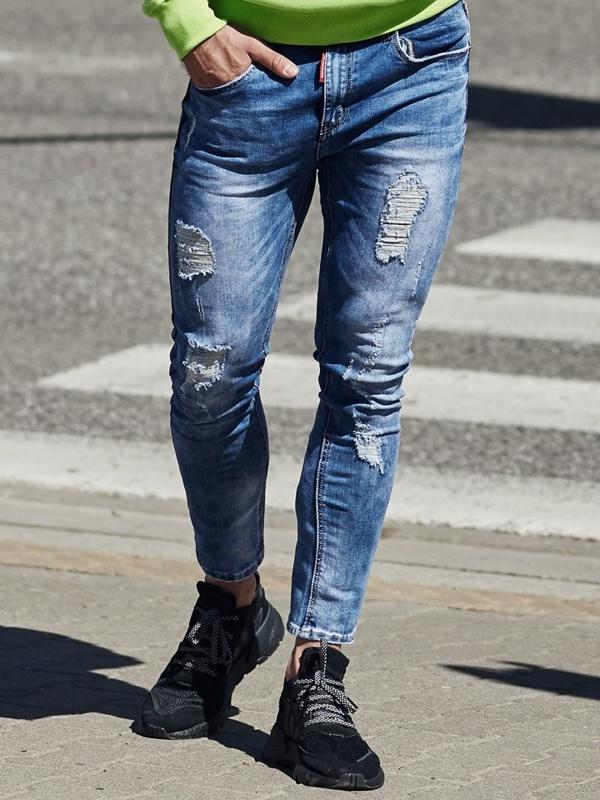 Modré pánské džíny Bolf 3947