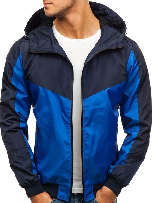 Modro-tmavě modrá pánská sportovní přechodová bunda Bolf HS10