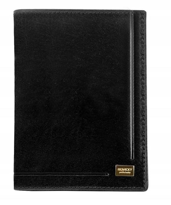 Pánská černá kožená peněženka 144