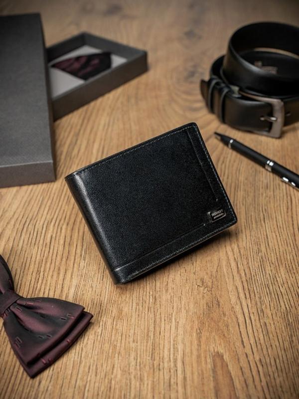 Pánská černá kožená peněženka 200