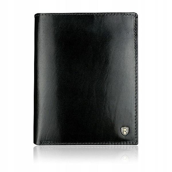 Pánská černá kožená peněženka 910