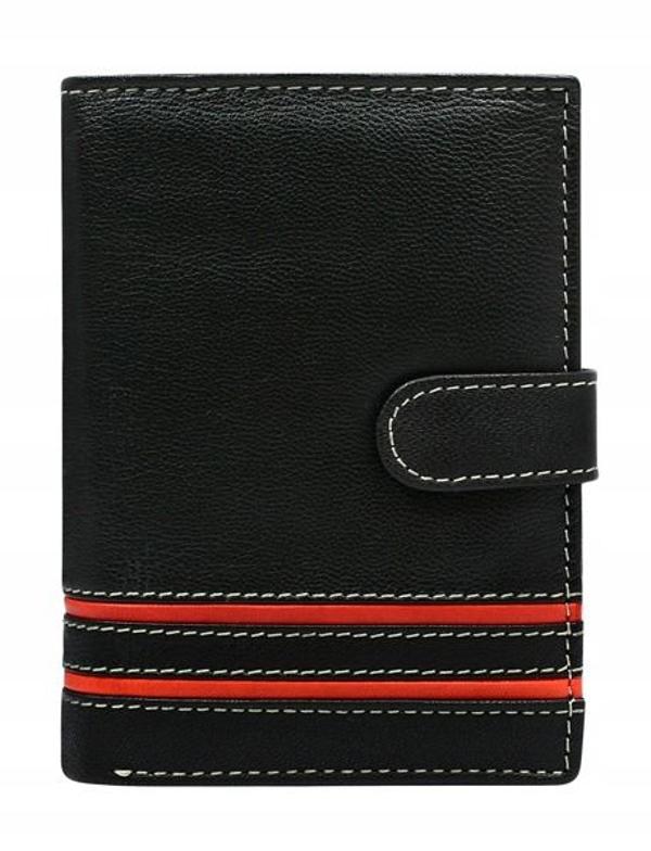 Pánská červená kožená peněženka 583