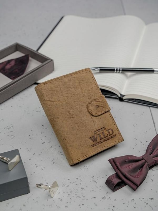 Pánská hnědá kožená peněženka 3140
