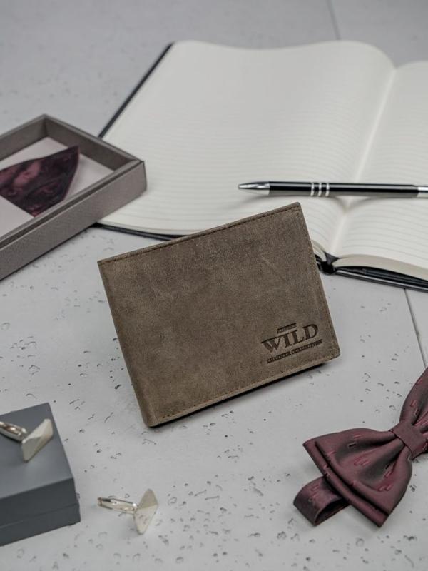 Pánská hnědá kožená peněženka 3184