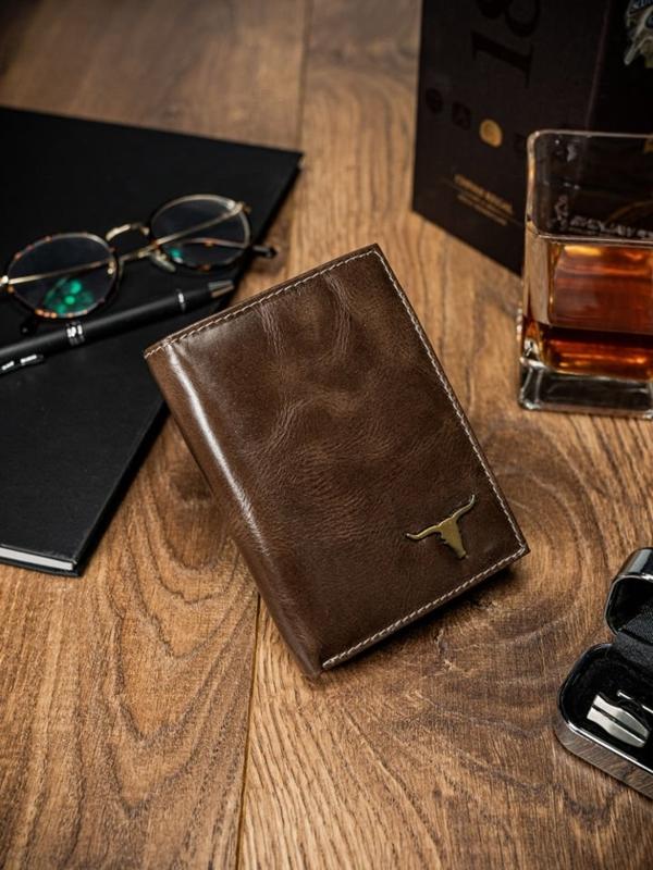Pánská hnědá kožená peněženka 64