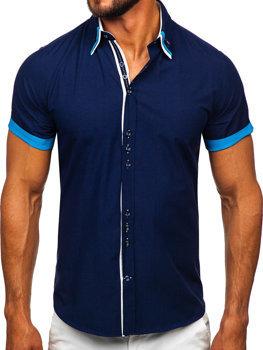 Pánská košile BOLF 2926 tmavě modrá