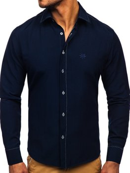 Pánská košile BOLF 4719 tmavě modrá