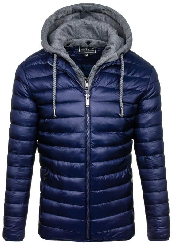 Pánská tmavě modrá zimní bunda Bolf 3110