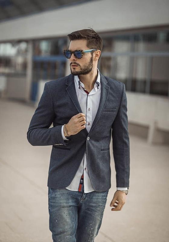 Stylizace č. 187 - ležérní sako, košile, džíny
