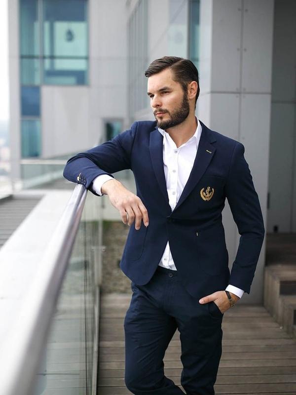 Stylizace č. 278 - náramek, sako, elegantní košile, chino kalhoty