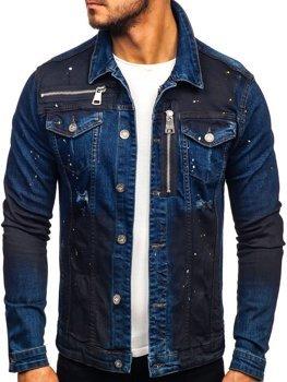 Tmavě modrá pánská džínová bunda Bolf 5015
