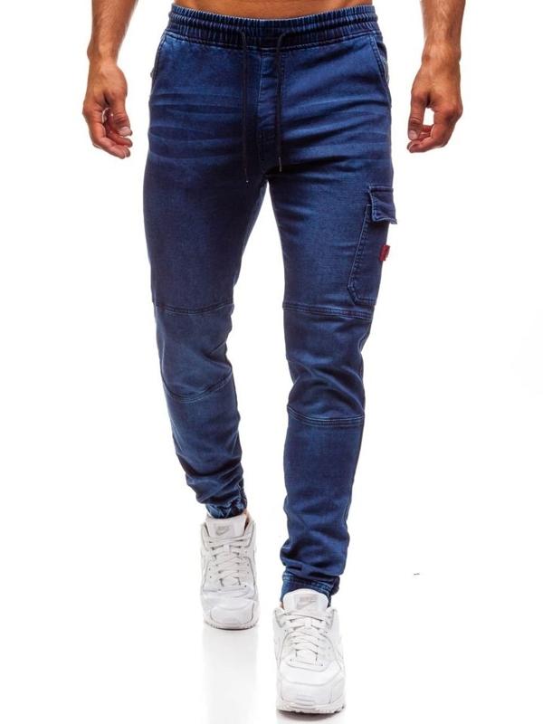 Tmavě modré pánské džínové jogger kalhoty Bolf Y271