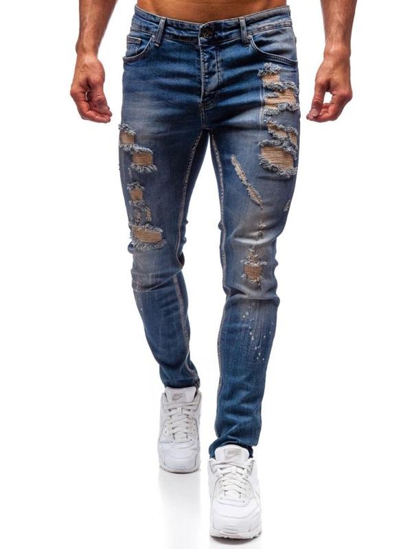 Tmavě modré pánské džínové kalhoty Bolf 1004
