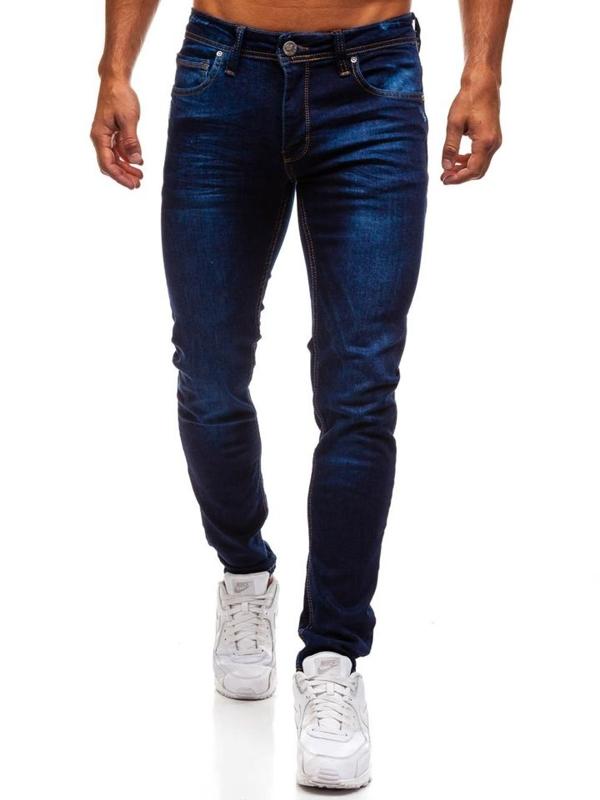 Tmavě modré pánské džínové kalhoty Bolf 1125