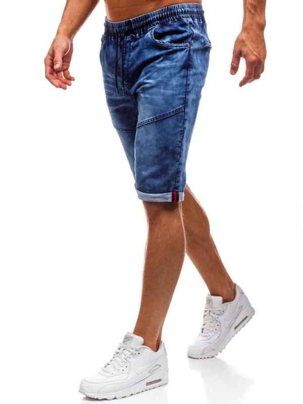 Tmavě modré pánské džínové kraťasy Bolf HY251