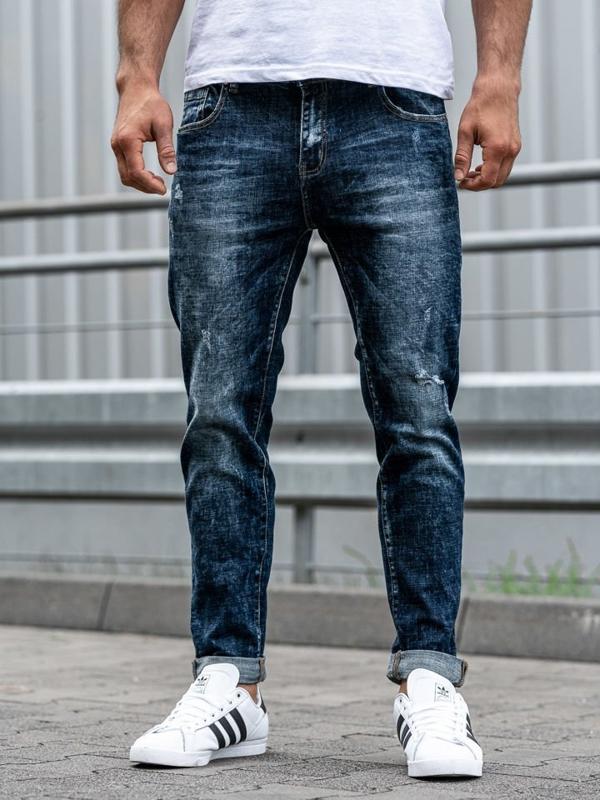 Tmavě modré pánské džíny Bolf KX269