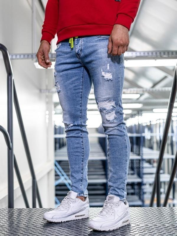 Tmavě modré pánské džíny skinny fit Bolf KA1726