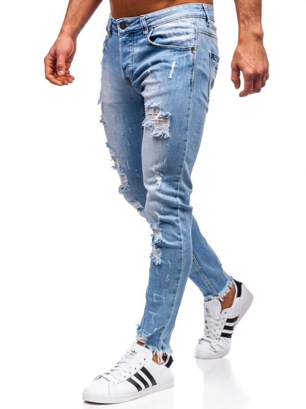 Tmavě modré pánské džíny skinny fit Bolf KA279